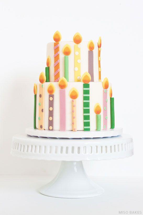 DIY Birthday Candles Cake