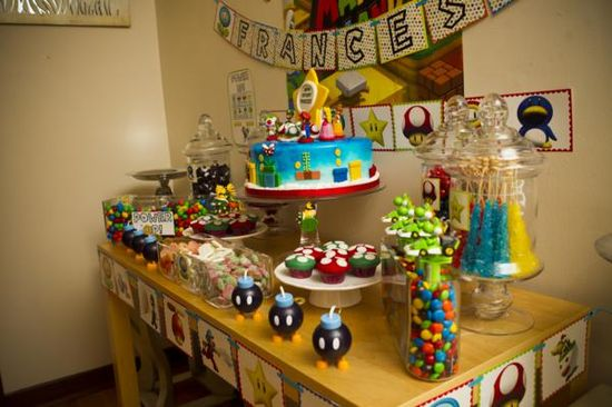 Mario Party; awesome cake and graphics banner