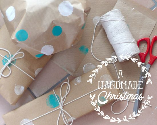 A Handmade Christmas: make your own wrapping paper