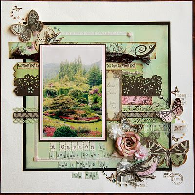 gorgeous scrapbooking layout via In My Own Imagination