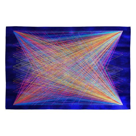 Fimbis Veer Woven Rug #neon #geometric #pattern #home #decor
