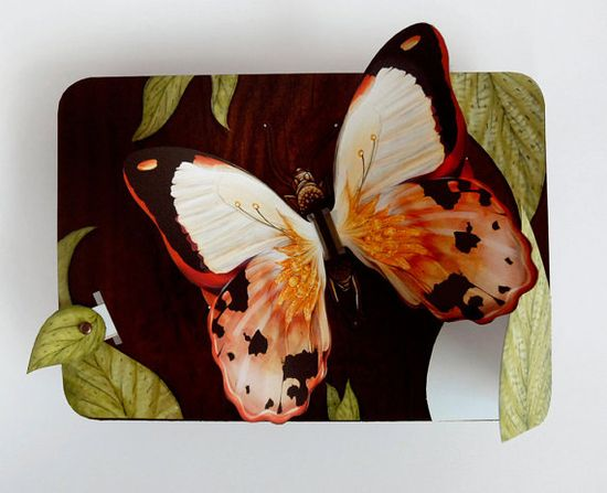 Flying Butterfly Pop Up Greeting Card by crankbunny on Etsy, $8.00
