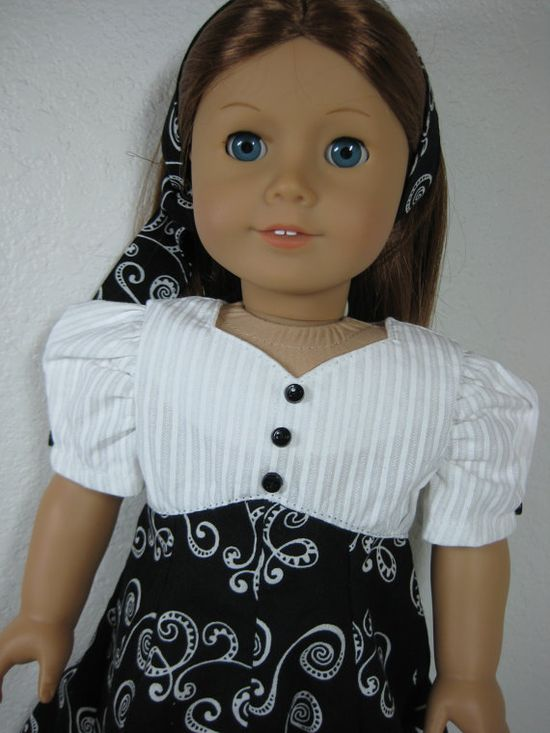18 Inch Doll Clothes American Girl 1940s Black and by nayasdesigns, $28.50