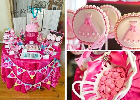 Dress up themed birthday party via Kara's Party Ideas karaspartyideas.com #dress #up #girls #party