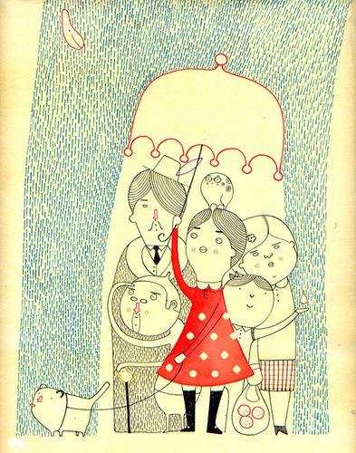 Pilipo G. / Family in a rainstorm