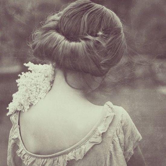 the hair...