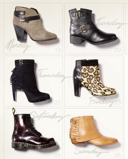 Boots, boots, boots.
