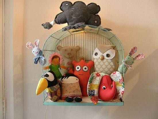 storage for softies. Great idea