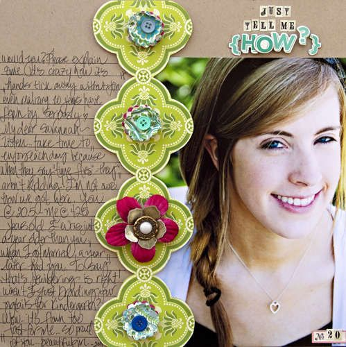 Cute scrapbooking layout. Just tell me how. #scrapbooking