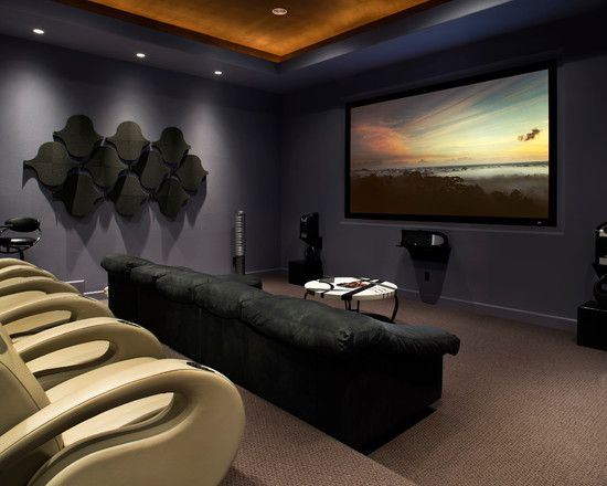 Media Room Design, so doing this in our next house!