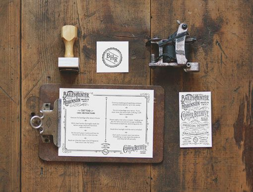 Expert Americana Tattooing business cards by Two Arms