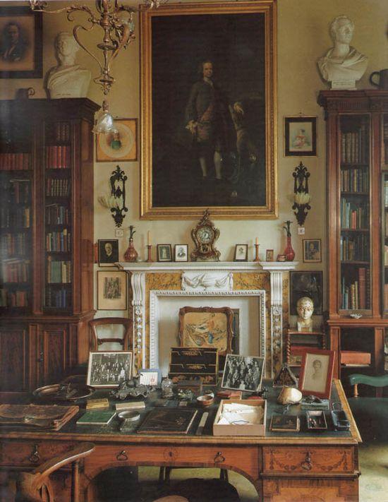 Library at Sandon Hall, Staffordshire