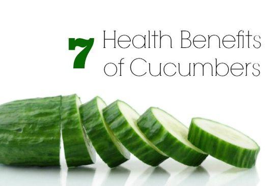 7 Health Benefits of Cucumbers #Organic #Refreshing #Hydrating