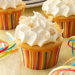 Coconut Tres Leches Cupcakes via Taste of Home