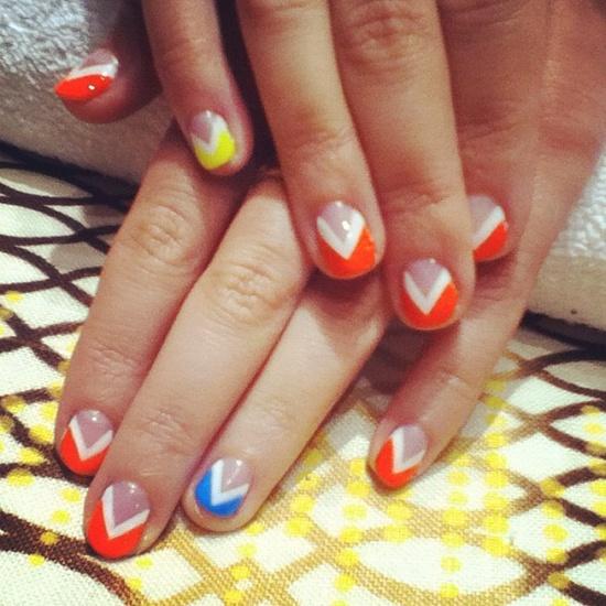 blazing arrows - nail art