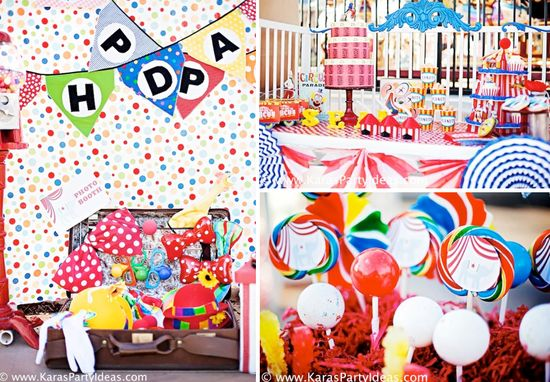 Circus Train Big Top Carnival Themed Birthday Party via Kara's Party Ideas www.KarasPartyIde...
