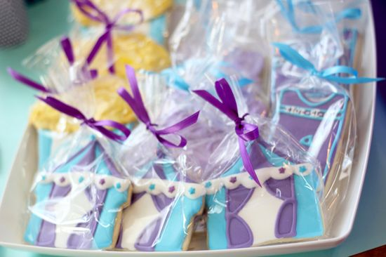 Decorated cookies at a  Carnival Baby Shower #carnival #babyshower