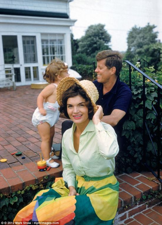 Jackie, Caroline and JFK.