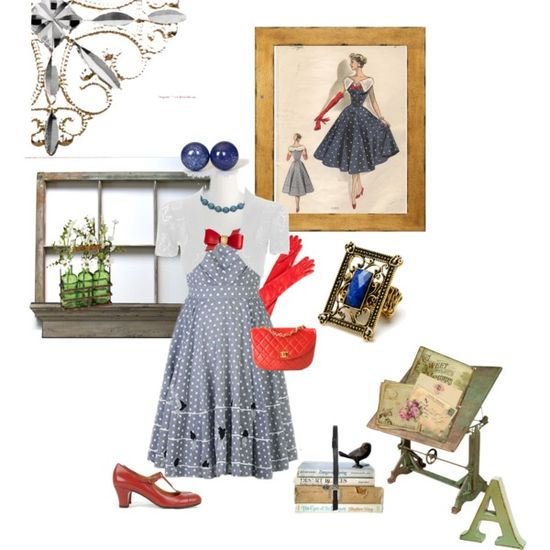 """Study Day- Vintage Style"" by alynncameron on Polyvore"