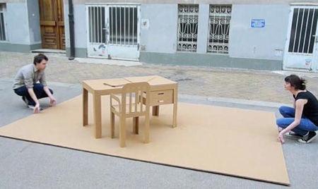 Cardboard Pop-up Office
