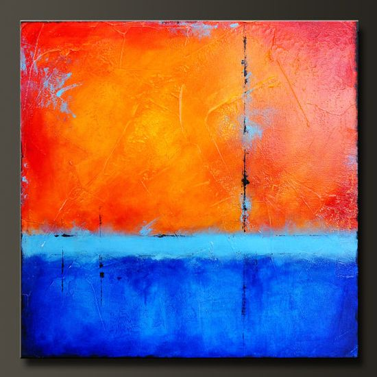 Radiance  24 x 24  Abstract Acrylic Painting  by CharlensAbstracts