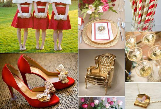 Red & Gold #Wedding ideas