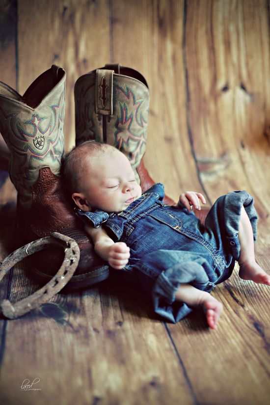 Newborn photography, baby, cowboy boots, cowboy, portraits, country