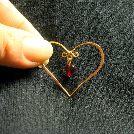 Heart pendant tutorial...