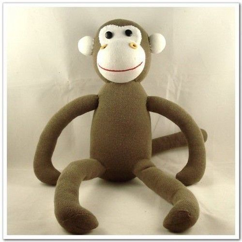 Handmade Original Sock Monkey Stuffed Animal Doll Baby Toys. $12.99, via Etsy.