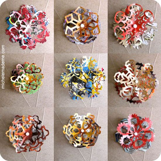 junkmail snowflake gift toppers - no more bows!