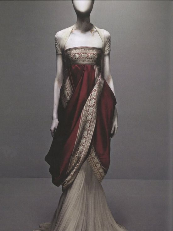 Alexander McQueen's Sari Dress  from Fall 2008 collection.