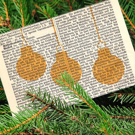 christmas tree ornaments card