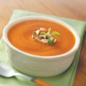 Fresh Pumpkin Soup Recipe from Taste of Home