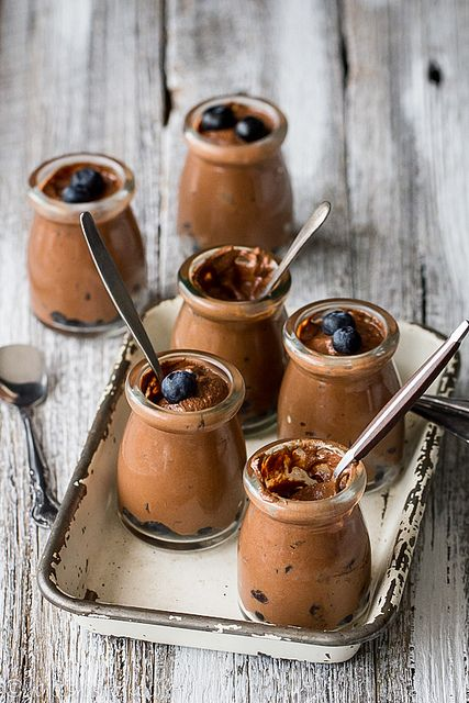 Chocolate & blueberry mousse