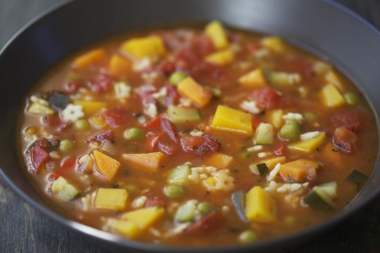 Chunky Winter Vegtable Soup! Can you say comfort food?! I would roast and add a veggie or two to amp up the flavor, and a chopped spicy pepper for a little kick!