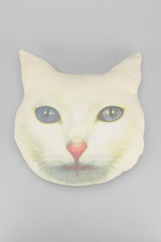 Cat Face Pillow #urbanoutfitters