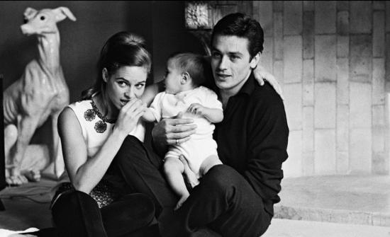 Alain Delon con Nathalie y Anthony
