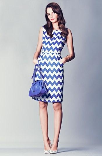 kate spade new york blue sheath dress