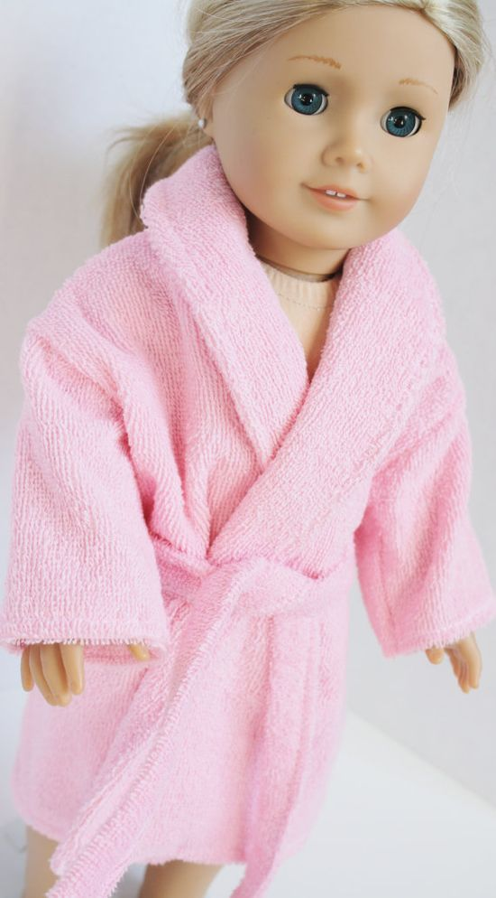 American Girl Doll Clothes  Pink Terrycloth Robe by alldolldup, $15.00