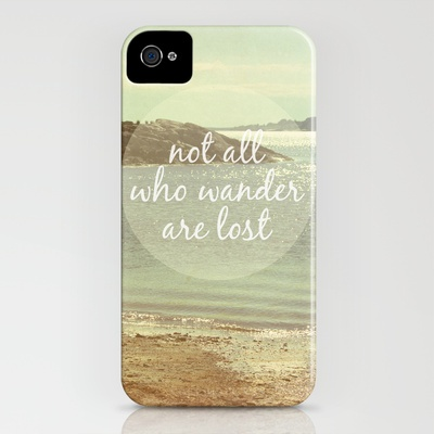 Not All Who Wander Are Lost iPhone Case by Jillian Audrey - $35.00