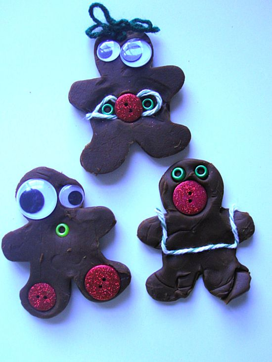 gingerbread playdoh people