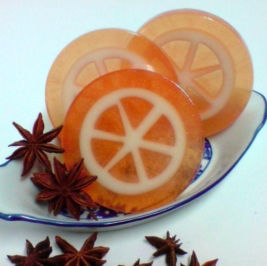 handmade tangerine soap