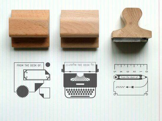 From the desk of... Rubber Stamps Etsy.