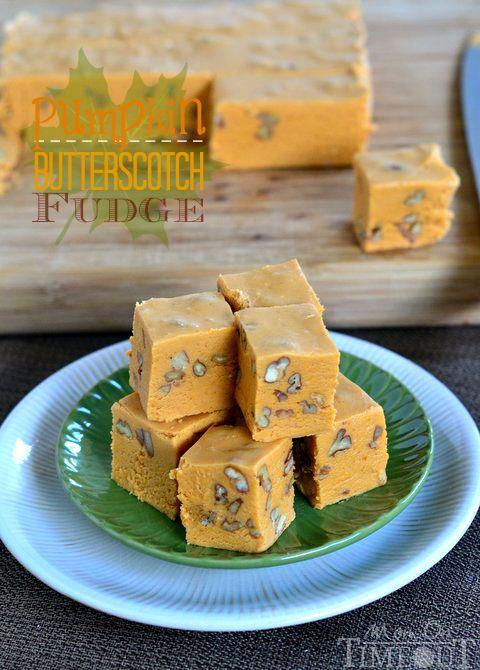 Pumpkin Butterscotch Fudge