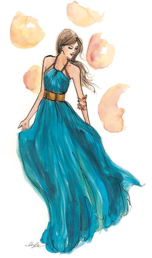 Inslee fashion illustration