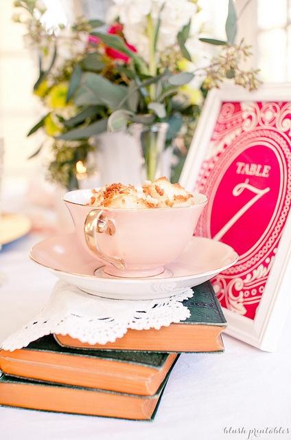Vintage Garden - Table Number by blush printables