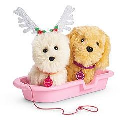 American Girl® Accessories: Snowy Fun Pet Set