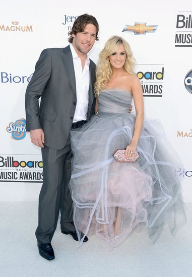 Carrie Underwood and husband, Mike Fisher, arriving at the 2012 Billboard Music Awards.