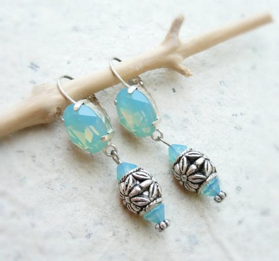 misty blue earrings from StaroftheEast on etsy