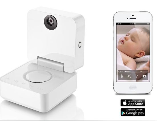 Baby monitor that plays music for baby, allows you to take video of your baby, watch them from anywhere and more all from your phone or device!